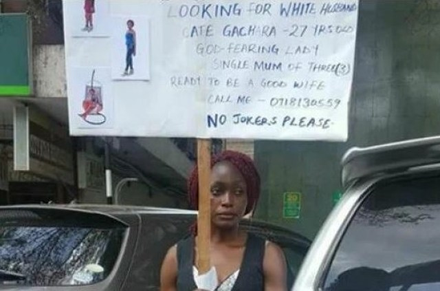 mum - Desperate Single Mother Of Three Takes To The Street To Look For White Husband (Photos)