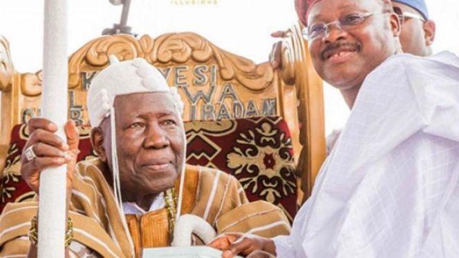olubadan ajimobi 1024x577 - I Have No Intention To Depose Olubadan – Ajimobi Says