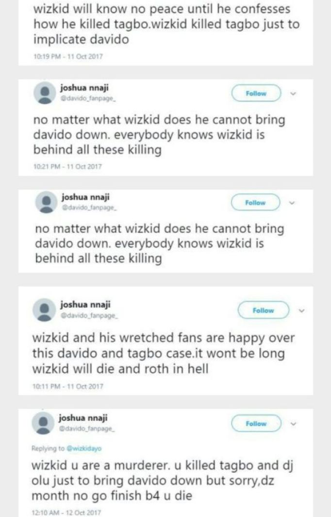 wp 1507882492982 - Shocking Revelation:- Wizkid Killed Tagbo To Implicate Davido – Twitter User Reveals