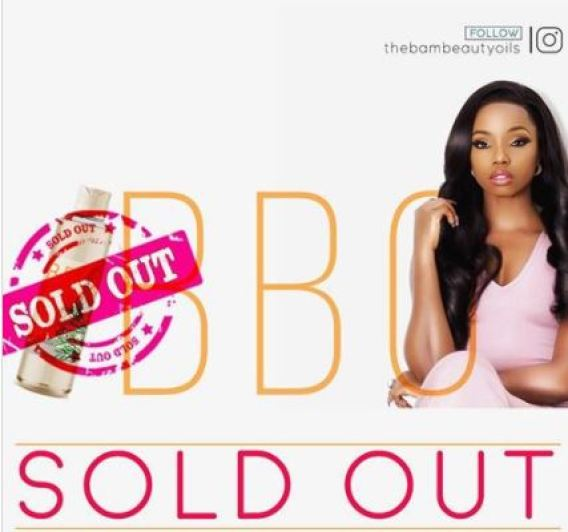Image result for BamBam reportedly makes N25m from sale of beauty oil in 24hours