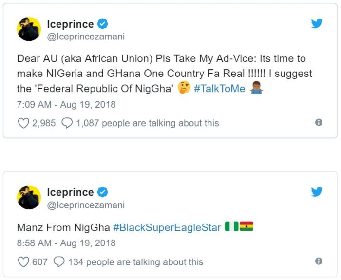 nig - Ice Prince - Nigeria And Ghana Should Be Joined Together As One Country (You Agree?)