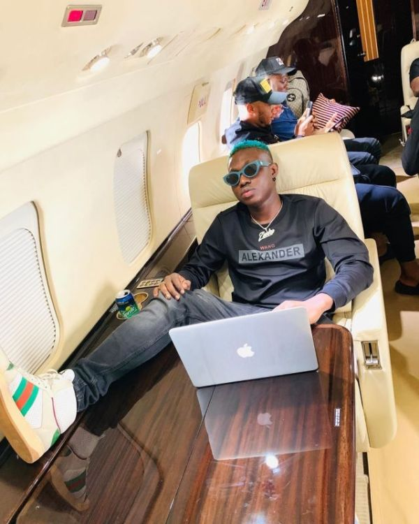 Zlatan Ibile Poses Inside A Private Jet (Photo)