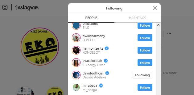 Davido & Kizz Daniel End Beef, Follow Each Other Back On Instagram
