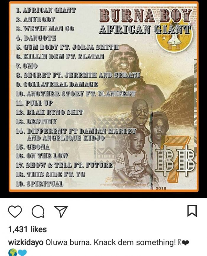 Burna Boy Finally Set To Release His New Album, 'African Giant' (See What Wizkid Said) 7