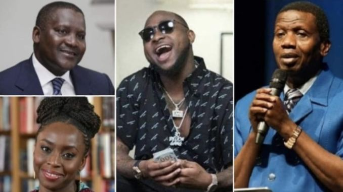 Davido, Pastor Adeboye, And 2 Others Becomes The Most Influential Africans In The World