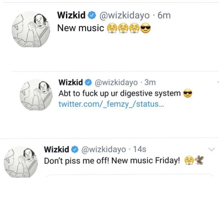 """I'm About To Fvck Up Your Digestive System"" – Wizkid Says As He Plans To Release New Music On Friday"