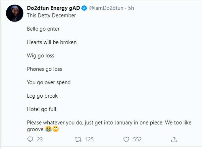 """""""Many Will Get Pregnant, Hearts Will Be Broken This Detty December"""" – OAP Do2dtun 4"""