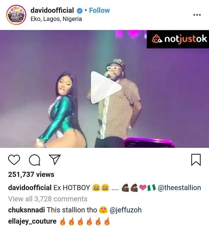Davido Reveals His Reason For Not 'Rocking' Female Rapper, Megan On Stage (See Why) 4