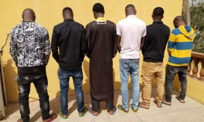 EFCC Arrests 22-Year-Old Wanted Yahoo Boy & His Colleagues. Seizes Cars (Photos)