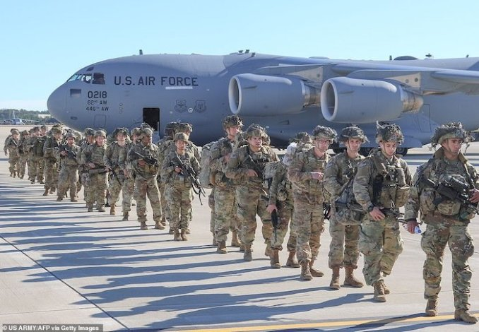 WORLD WAR 3!See Photos Of The 3000 US Soldiers Deployed To Iran After Soleimani's Death 4