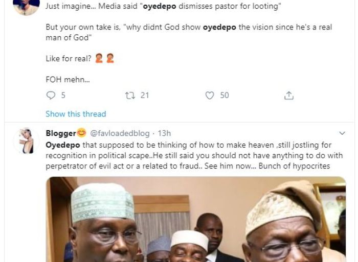 What Nigerians says, As Bishop Oyedepo Dismisses His Church's Senior Officials For Looting The Treasury