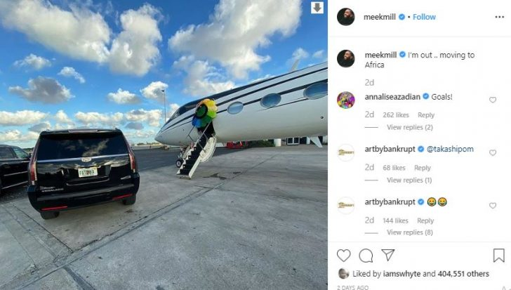 """""""I'm Moving To Africa"""" – Meek Mill Packs His Baggage (See Why) 4"""