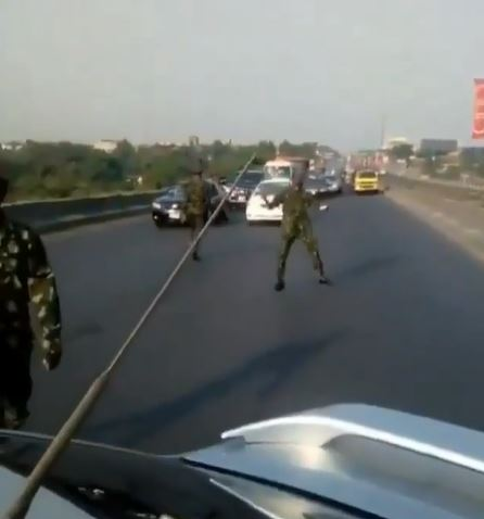 """""""They Can't Do Anything"""" – Nigerian Cadets Says As They Stop All Moving Cars On The Highway (Video) 2"""