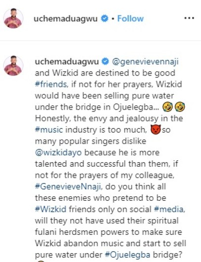 UNPOPULAR OPINION!!! If Not For Genevieve Nnaji's Prayers, Wizkid Would Have Been Selling Pure Water 2
