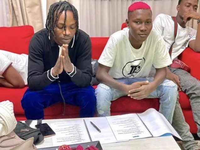 CONGRATS!! Zinoleesky Officially Signs With Naira Marley's Label, Marlians Music (See Photo) 2