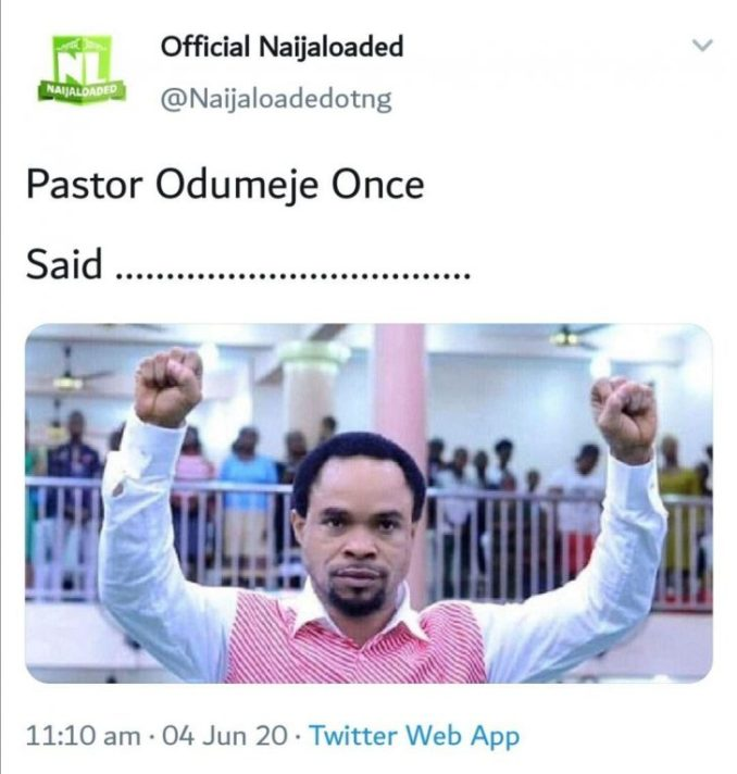 LET'S PLAY!! Tell Us Something Pastor Odumeje Once Said (Best Quote Wins) 1