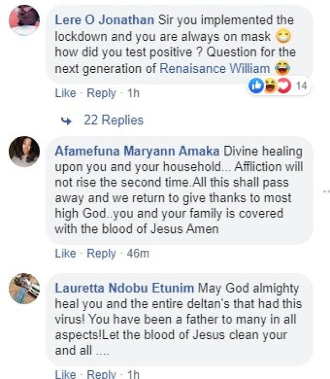 Nigerians React As Delta State Governor, Ifeanyi Okowa And Family Tests Positive To Coronavirus 2