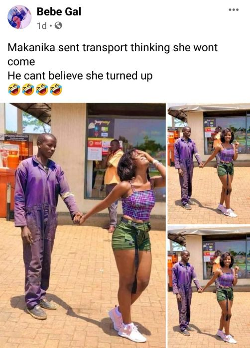 Mechanic in shock as the lady he proposed on Facebook surprisingly shows up [PHOTOS]