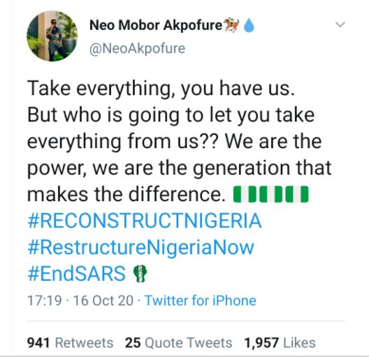 'Our Generation Makes The Difference' – BBNaija's Neo
