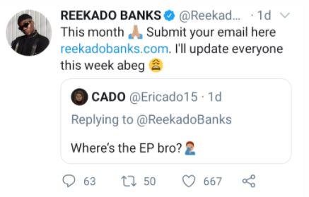 Reekado Banks To Finally Release EP In November 4