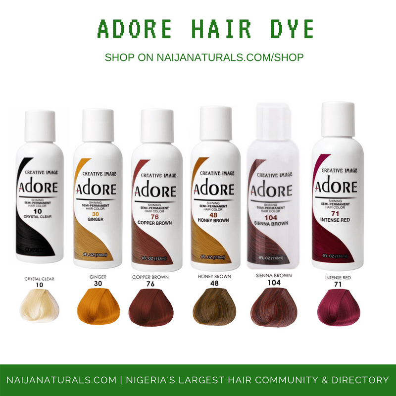 adore hair dye nn & beauty