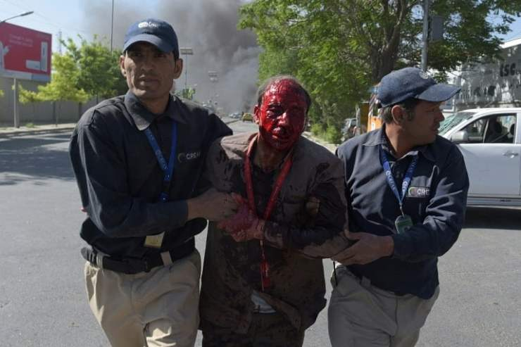 At least 40 people were killed or injured after a massive blast struck Kabul's diplomatic quarter during morning rush hour on Wednesday, officials said, in the latest attack to reverbate across the Afghan capital.