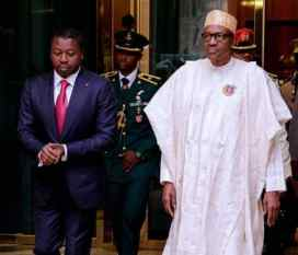 Image result for Faure Gnassingbe commends Nigeria's role in integrating West Africa