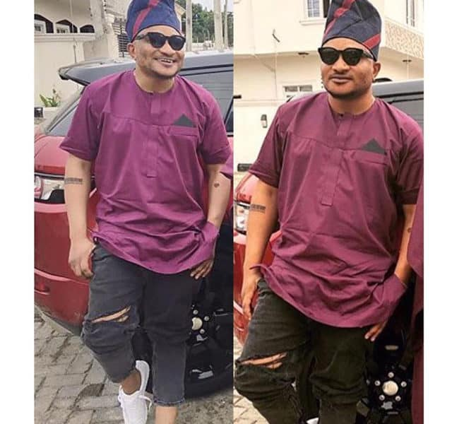 masterkraft 1 640x600 - LOL! See what MasterKraft wore to Banky W and Adesua's traditional wedding ceremony