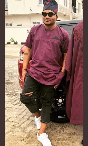 masterkraft 3 361x600 - LOL! See what MasterKraft wore to Banky W and Adesua's traditional wedding ceremony