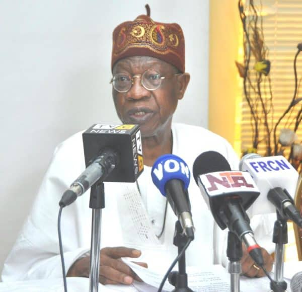 Lai Mohammed Launches Campaign Against Fake News