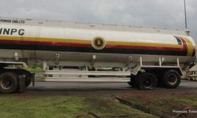 Another Fuel Tanker Spotted Spilling Fuel On Road In Lagos