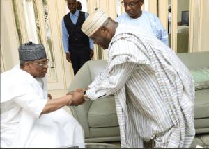 atiku IBB - Atiku Visits Babangida In Minna