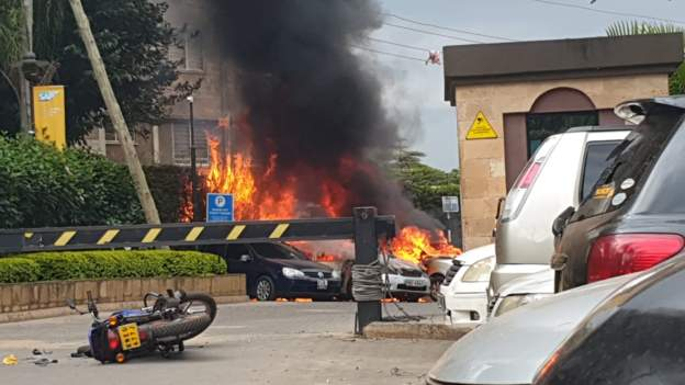 Explosions Rock Nairobi Hotel In Kenya, Attack Claimed By Al-Shabab (Video/Photos)Explosions Rock Nairobi Hotel In Kenya, Attack Claimed By Al-Shabab (Video/Photos)