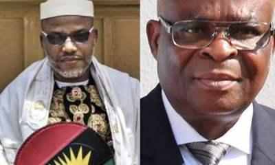 Biafra: Nnamdi Kanu Bombs CJN Tanko, Praises Onnoghen In Latest Broadcast