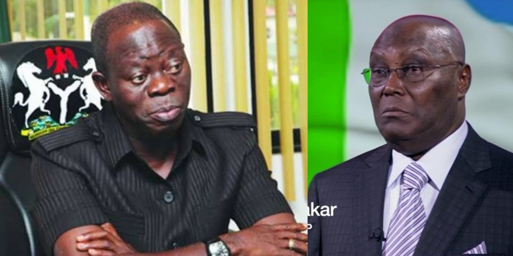 Image result for Oshiomhole: Atiku not destined to be president