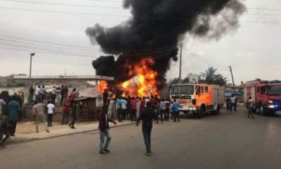 Scene of the tanker explosion