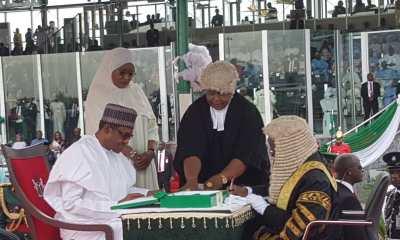 Nigerians React As Buhari, Osinbajo Take Oath Of Office