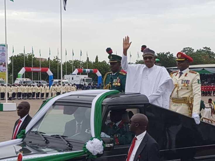 Buhari arrives eagle square