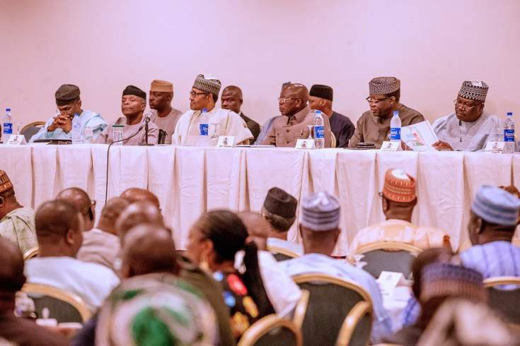 Buhari, APC Caucus Meet Ahead 9th National Assembly