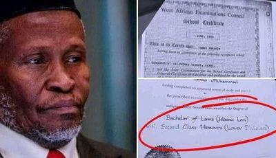 Nigerians Roast CJN Tanko Muhammad Over 'Poor' WAEC Result