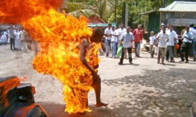 Mob Sets VIO officer ablaze