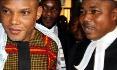 Biafra: Nnamdi Kanu Sends Message To Buhari Govt Over 'Attack' On Lawyer