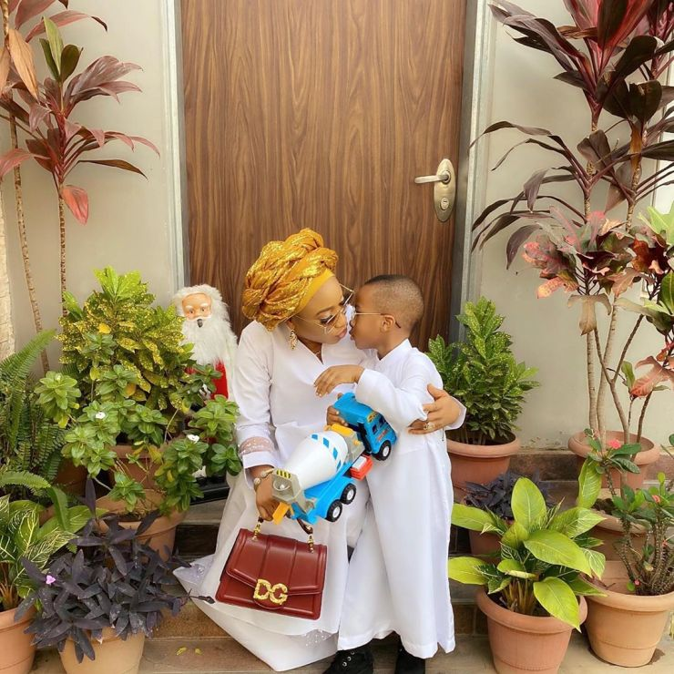 Tonto Dike and Son Andre