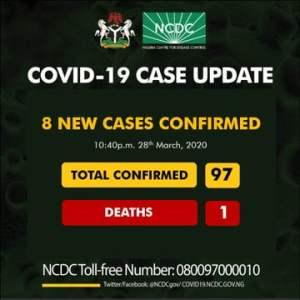 NCDC 1 - Eight New Coronavirus Cases Recorded In Nigeria