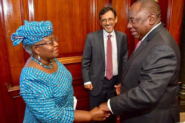South African President, Ramaphosa Reveals Preferred Candidate For WTO DG