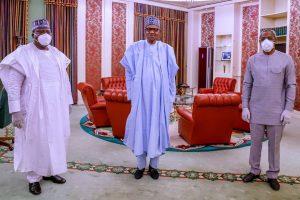 JUST IN: President Buhari Meets Lawan, Gbajabiamila