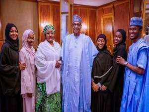 Buhari Celebrates Eid-el-Fitr At Aso Rock (Aso Rock)