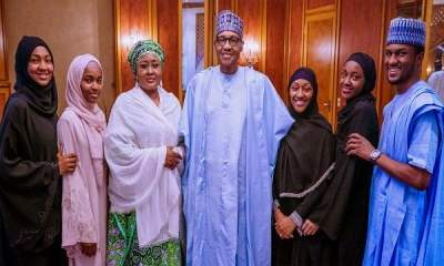 Buhari Celebrates Eid-el-Fitr At Aso Rock (Aso Rock)