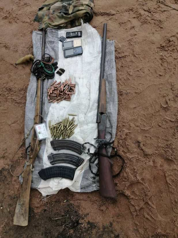 Ebvb L WAAASjVQ - Troops Kill High Terrorists, Recuperate Weapons In Benue, Taraba States (Pictures)