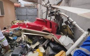 Helicopter Crashes Into Building In Lagos